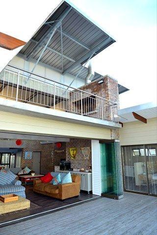 open sliding doors on front veranda